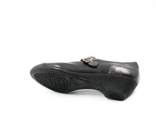 Piel En Pitillos Velcro Tipo Cierre Zapatos Mercedes Combi Grafito Color 3013 106 Mujer Negro wpCnSq