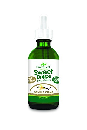 - SweetLeaf Sweet Drops Liquid Stevia Sweetener, Vanilla Creme, 2 Ounce