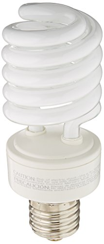 - TCP 28942H CFL Spring Lamp - 150 Watt Equivalent (only 42w used!) Soft White (2700K) MOGUL Base Spiral Light Bulb