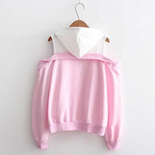 WomensClothing, KIKOY Off Shoulder Long Sleeve Hoodie Pullover Tops by Kikoy womens tops (Image #3)