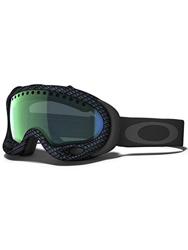 Oakley A-Frame Snow Goggle, Matte Carbon Fiber with Emerald Lens