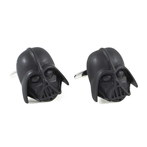 MENDEPOT Star Wars Movie Cufflinks In Box Yoda Cufflink Darth Vader Cufflinks In Box (Darth Vader BLK)