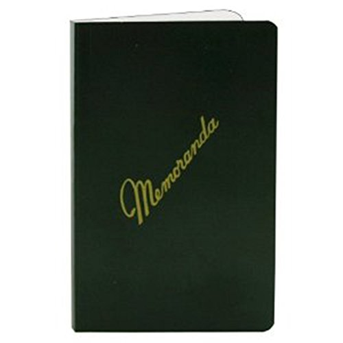 Memorandum Books, Dark Green Cover, Side Bound, NSN 7530-00-222-0078 (12-pack)