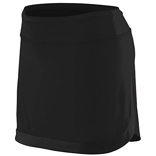 (Augusta Sportswear Girls' Action Color Block Skort M Black/Black)