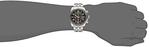 Citizen Men's Eco-Drive Silvertone And Black World Time A-T Watch