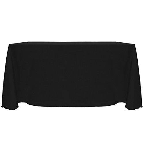 - Ultimate Textile -10 Pack- Reversible Shantung Satin - Majestic 90 x 156-Inch Rectangular Tablecloth, Black