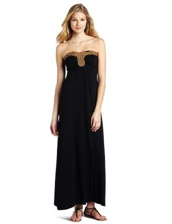 Design History Women's Beaded Maxi Dress, Black, X-Small
