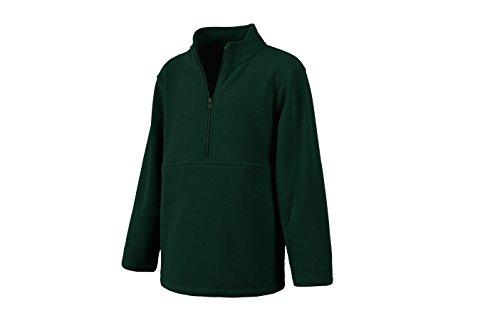 Classroom School Uniforms Kids' Big Unisex Half-Zip Polar Fleece Pullover, Hunter, L