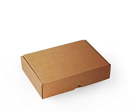 Caja rectangular automontable en cartón microcanal color kraft. La caja perfecta para tus envíos postales