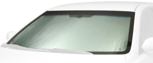 Intro-Tech FD-91 Custom Fit Windshield Sunshade for select Ford F-450 Super Duty Models, Silver