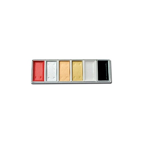 (6 Piece Japanese Watercolor Set- Traditional Colors)