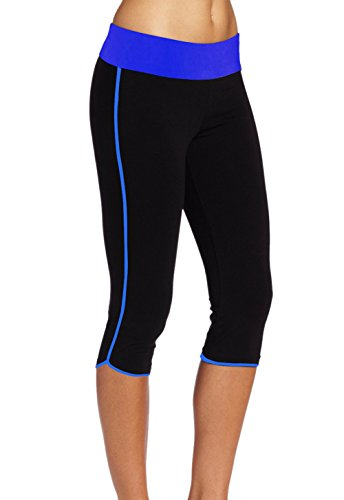 Black Blue X Sport Capri Legging large Multicolore Femme De Abusa agq68xHgf
