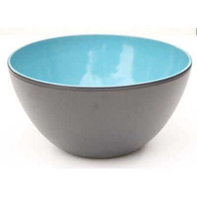 (Amazing Cookware Terracotta Bowl-Matt Black/Yellow, Ceramic, 21 x 21 x 11 cm)