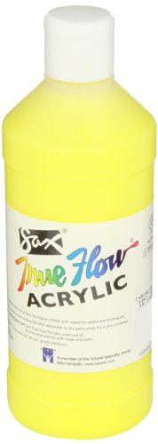 Body Acrylic Paint, 1 Pint, Chrome Yellow ()