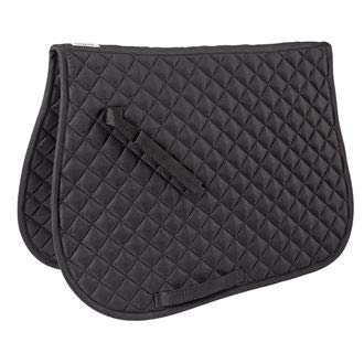 Dover Saddlery Quilted All-Purpose Saddle Pad, Dark Grey ()