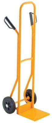 QUIPO Stahlrohrkarre - Tragfähigkeit 200 kg, Vollgummibereifung Schaufelmaße BxT 280 x 255 mm - Karre Ladekarre Paketkarre QUIPO-Transportgerät Sackkarre Stapelkarre Stappelkarren