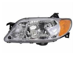Mazda Protege 4-Door Sedan Aluminium Bezel Driver Headlight (03 Mazda Protege 4 Door)