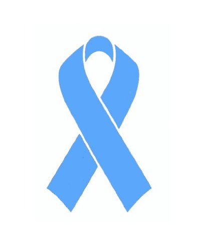 25 pack light blue ribbon prostate cancer awareness helmet decal sticker full