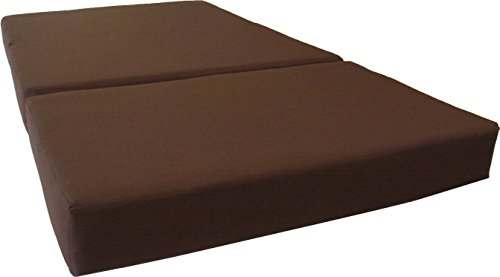- D&D Futon Furniture Brown Full Size Shikibuton Trifold Foam Beds 6