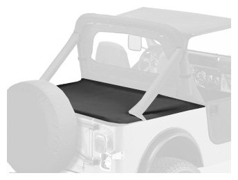 Bestop 90002-15 Black Denim Duster Deck Cover for 1987-1991 Wrangler with Factory Soft Top Bows Folded Down
