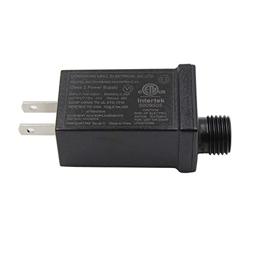 12V9W LED Power Supply Low Voltage LED Transformer Class 2 Power Supply Waterproof IP44 Seasonal Use LED Driver US Plug LED Adapter For String Light, Projector Light, Lawn Lamp (12V9W)