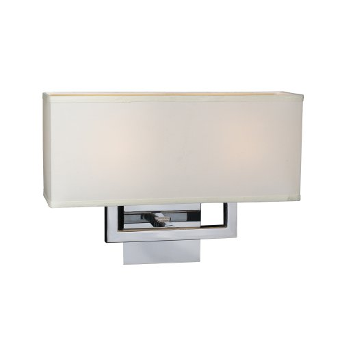 (PLC Lighting 18196 PC 2-Light Wall Sconce Dream Collection, Polished Chrome Finish)