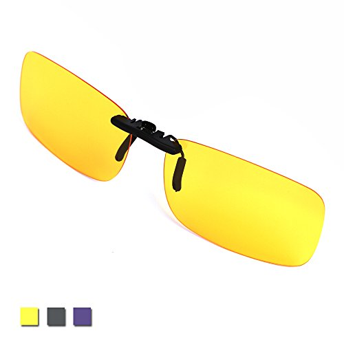 Clip on Glasses for Night Driving Flip up Glasses Polarized Yellow Night Vision - Sunglasses Up Amazon Flip