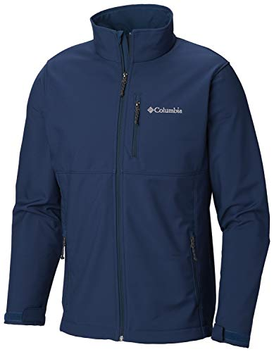 Columbia Men's Ascender Softshell Jacket, Water & Wind Resistant, petrol blue L,