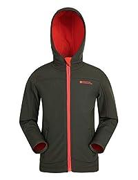 Mountain Warehouse Exodus Kids Softshell Jacket -Wind Resistant Shell Dark Green 11-12 years