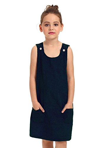 ephex Kid Toddler Girls Corduroy Cotton Pinafore Overall Jumper Dress with Pockets (Corduroy Girls Overalls)