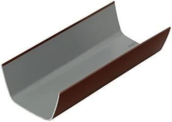 Marley Flowline 112 X 60mm Square Gutter 2 X 2 Metre Lengths Brown Rgf4br 2 Amazon Co Uk Diy Tools