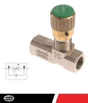 Flow Control Medium Pressure Needle Valves (FCM Series): 3000 PSI with 1/4'' NPT Port Size, 450670 by Stauff