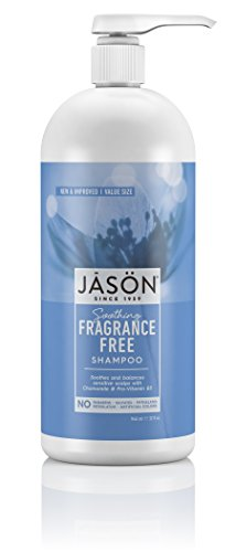 Jason Natural Fragrance - Jason Fragrance Free Shampoo, 32 Fluid Ounce