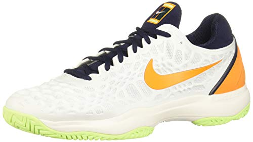 Nike Men's Zoom Cage 3 Tennis Shoe (8 D US, White/Orange Peel/Blackened - Orange White Peel