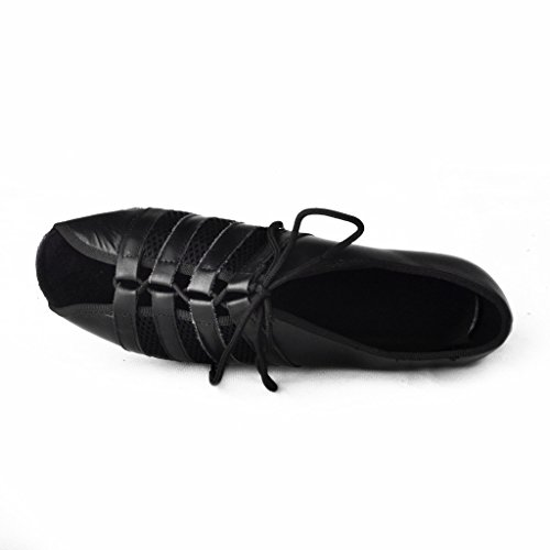 Jig Foo Latin Salsa Rumba Chacha Practice Ballroom Dance Shoes for Women Black v9o5W