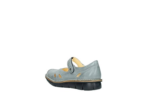 Donna Wolky Grey Leather Scarpe Blue Cordoba Tacco Col 326 nSPSIZrq