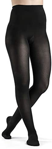 SIGVARIS Women's SOFT OPAQUE 840 Waist High Closed Toe Compression Pantyhose 20-30mmHg
