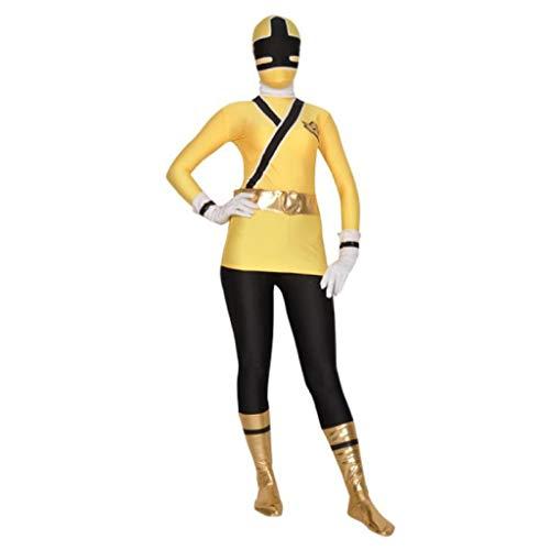 Children Power Costume Lycra Spandex Samurai Rangers Cosplay Halloween ()