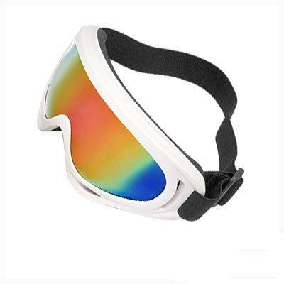 Como White Plastic Frame Skiing Snowboard Racing Ski Glasses, Outdoor Stuffs