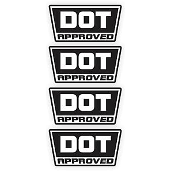2 x DOT Bikers Motorcycle Helmet Small Pair Sticker DECAL - 1