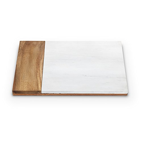 Country Cottage Marble and Acacia Wood Cheese Board by Twine