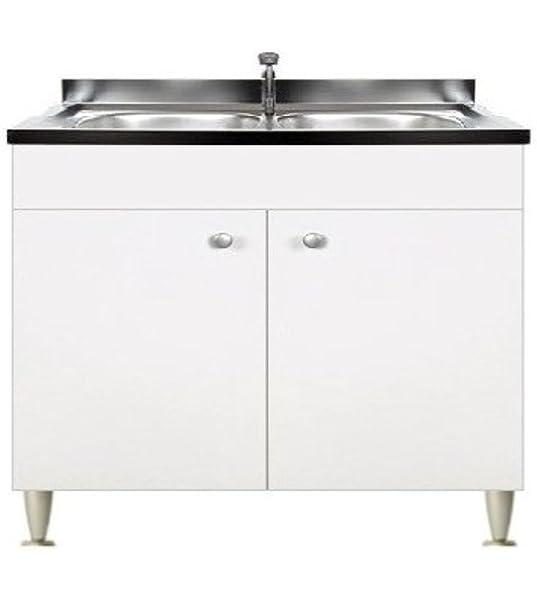 IKEA FAKTUM - Mueble bajo para fregadero + 2 puertas, APPLÅD gris: Amazon.es: Hogar