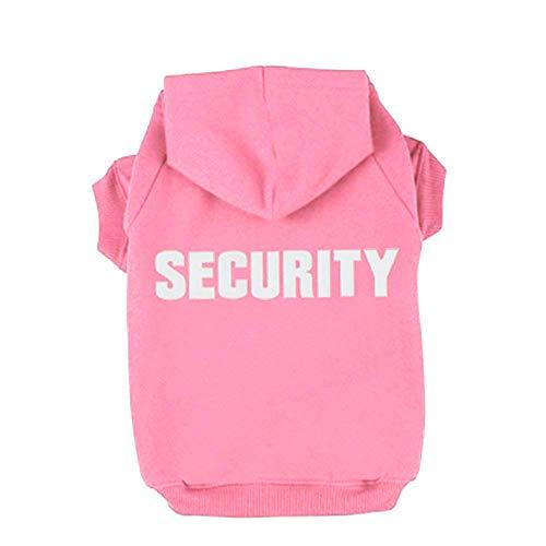 Trudz PET Security Dog Hoodies, Rdc Pet Apparel Autumn & Winter Sweatshirt Warm Sweater, Cotton Jacket Coat for Samll…