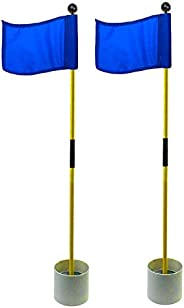 Crestgolf 2-Section Portable Backyard Practice Golf Hole Cup and Flag Stick of Fiberglass, Golf Putting Green