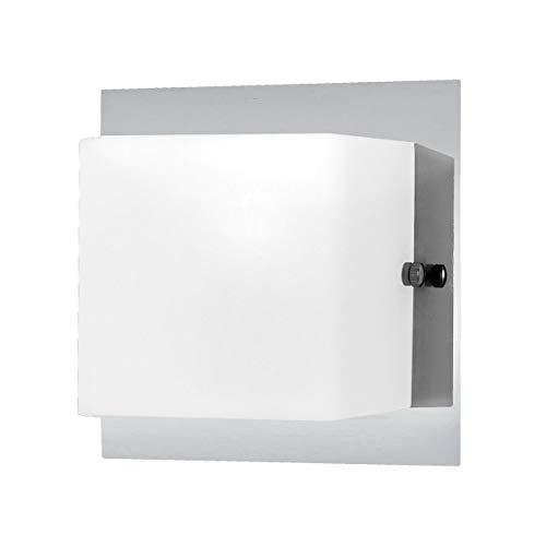Eurofase 19424-019 Talo 1-Light Wall Sconce, Chrome/Opal White