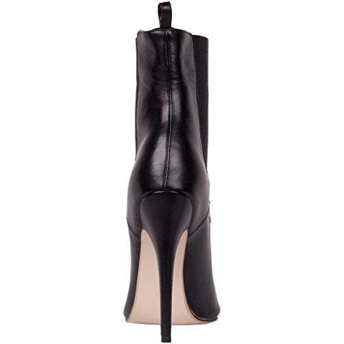 Calaier Kvinner Slip Black 2016 På Tå Glidelås Boots Designer Sko Stilig 12cm Catoday Klinke Stiletto Høy Spiss Hæl Luksus Piggdekk rrHqwadEx