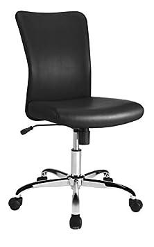 Brenton Studio Birklee Faux Leather Task Chair, Black Chrome