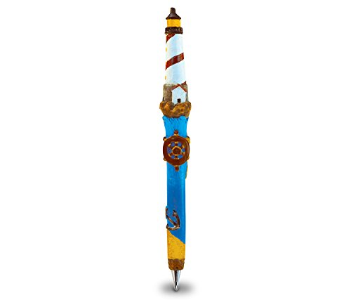 Puzzled Lighthouse Planet Pens Resin Ballpoint Writing pen - Lighthouses Theme - 6 INCH - Affordable Gift For Kids and Adults - Item #3704