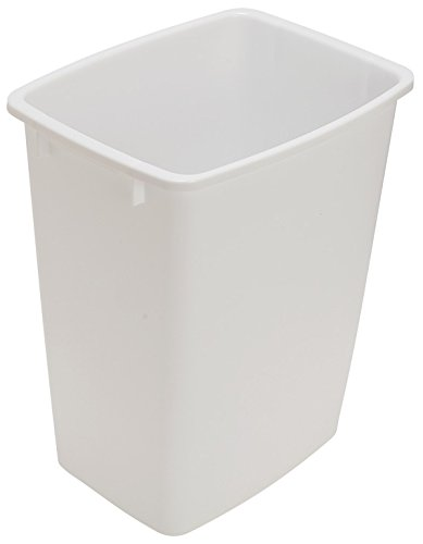 36 Qt  Replacement Waste Bin For Cabinet Recycling Pull Out Trash Organizer  White