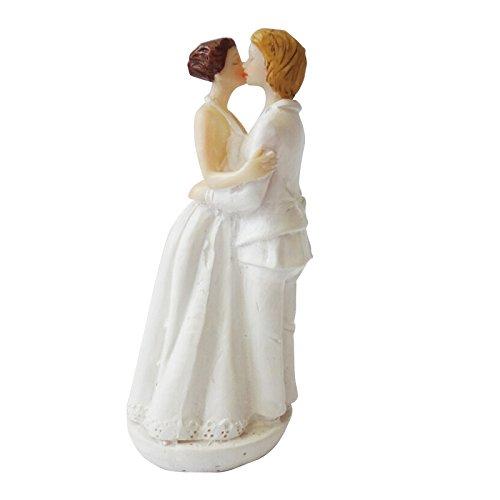 MeterMall Lanlan Caucasian Tender Moment Figura 5,9/Pulgadas rom/ántico Gay Lesbiana Boda decoraci/ón para Tarta para